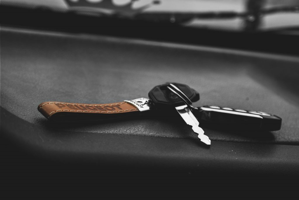 A set of keys - payment terms for vehicle hire